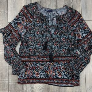 AEO floral blouse